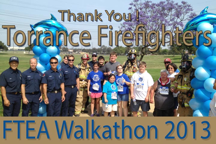 firemen-athletes-balloons-walkathon-2013