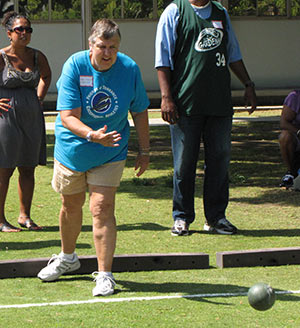 Bocce ball is great fun for all FTEA athletes.