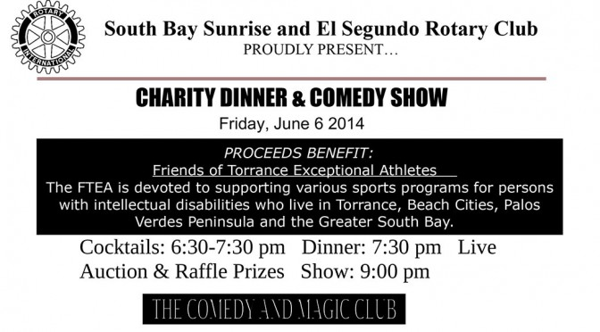 Charity Dinner & Comedy Show 2014