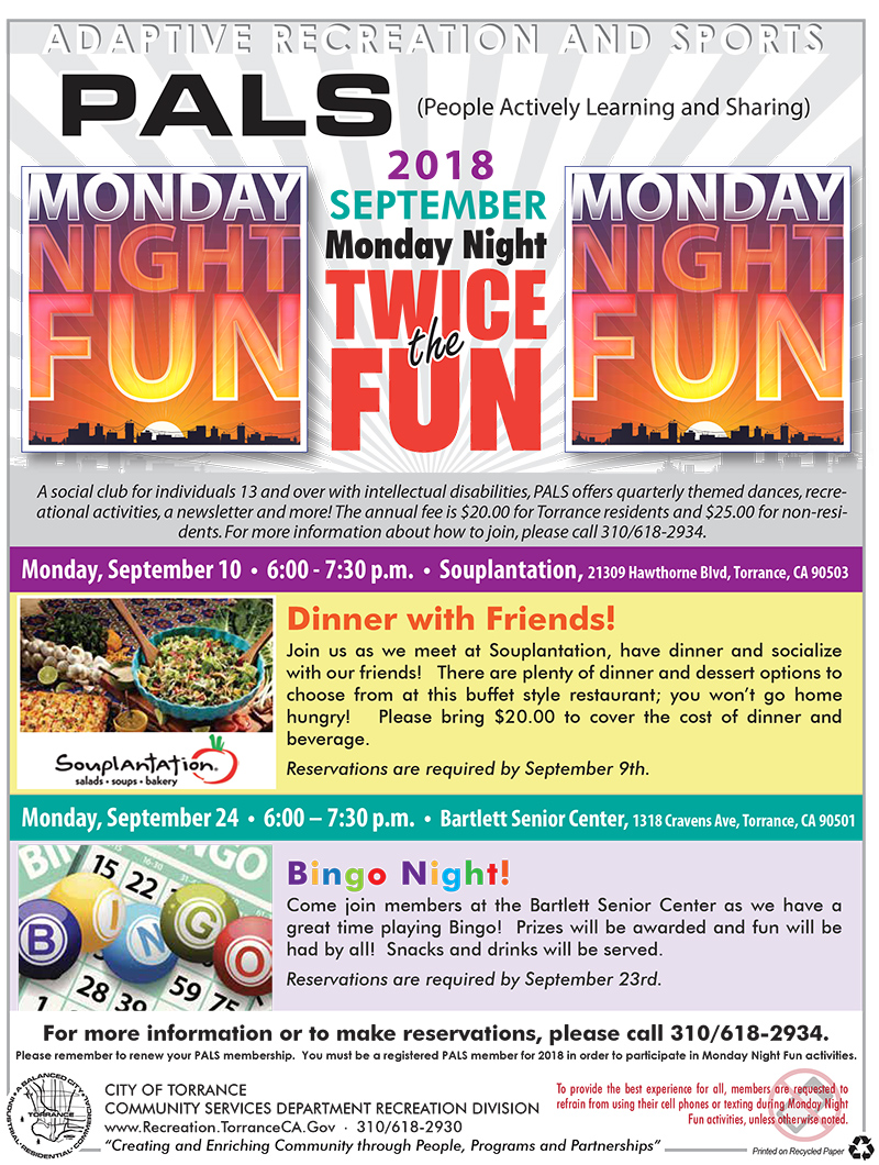 pals 2018 september twice the fun friends of torrance exceptional
